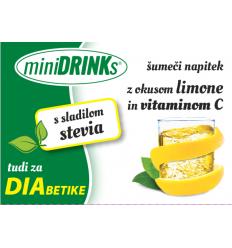 miniDRINKs INSTANT NAPITEK AROMA LIMONA s STEVIO in VIT. C