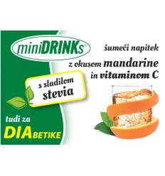 miniDRINKs INSTANT NAPITEK AROMA MANDARINA s STEVIO in VIT. C